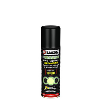 Glow in the Dark Spray Paint (phosphorescent): 10 hours of light - 11-13 microns 200 ml