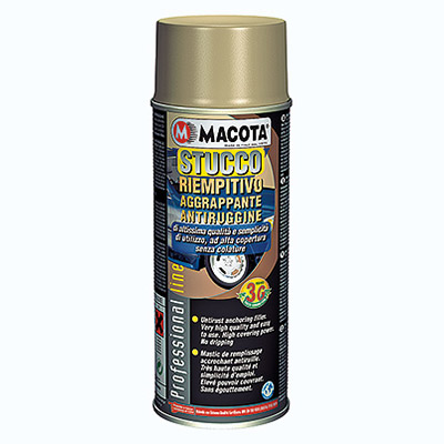 Stucco in spray can: anti rust and right for sanding