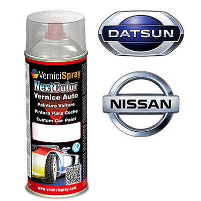 Spray Car Touch Up Paint DATSUN/NISSAN PIXO ZLZ GREYISH BLUE MET.