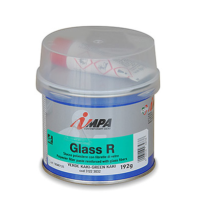 Polyester Filler paste with glass fibers