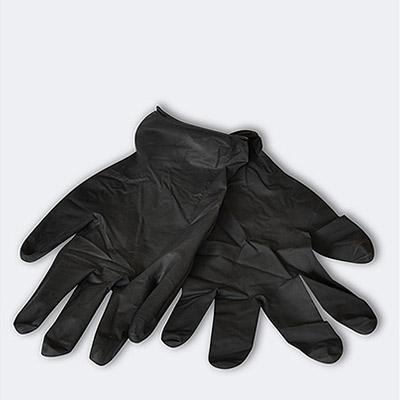 Gants de protection jetables en latex noir - 3 paires