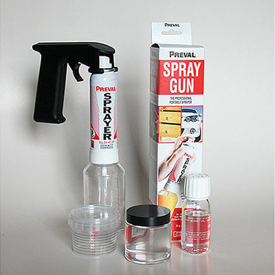 Kit Gloss 2k Lacquer in pot with Spray Gun and handle