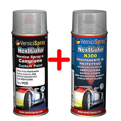 Kit bombolette spray Vernice e Trasparente 1K