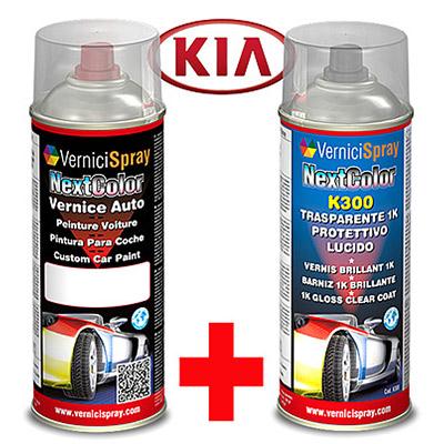 Kit de Retoque Pintura spray y Barniz para auto KIA MAGENTIS 1C IMPERIAL BLUE MET.