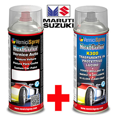Kit de Retoque Pintura spray y Barniz para auto MARUTI DZIRE ZTL CAFFINE BROWN MET.