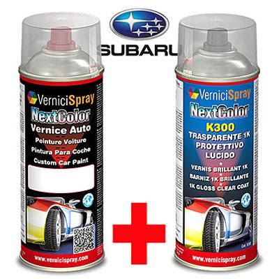 Kit de Retoque Pintura spray y Barniz para auto SUBARU TRIBECA 64Z NEWPORT BLUE MET.