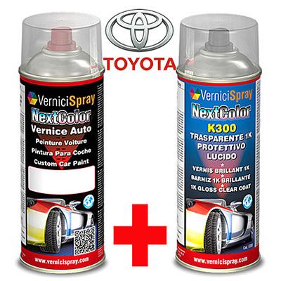 Kit de Retoque Pintura spray y Barniz para auto TOYOTA YARIS 1F7 SILVER MET.