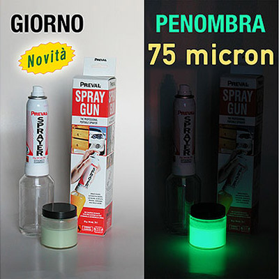 Nextglow kit - Vernice Fosforescente ad alta intensità da 100 gr micron 75 con Spray Gun