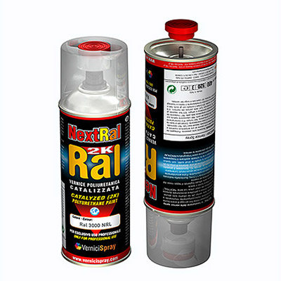 2k Paint polyurethane based in spray can - RAL gloss finish   Ral 1023  traffic yellow