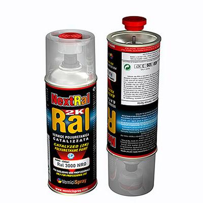 2k Paint polyurethane based in spray can - RAL matt finish   Ral 9005  jet black