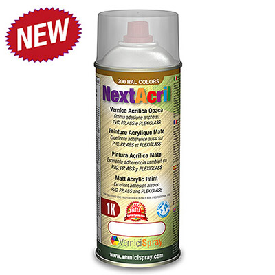 NextAcril - Matt Acrylic Spray Paint even for PVC e ABS