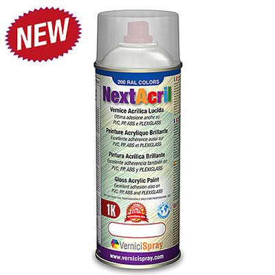 NextAcril - Pintura Acrílica Spray brillante para PVC y ABS también