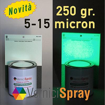 Nextglow Pintura Fosforescente: 12 horas de luz en la oscuridad - 5-15 micrones 250 gr
