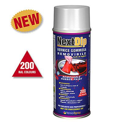 NextDip Vernice Pellicola Removibile spray in tutti i colori RAL
