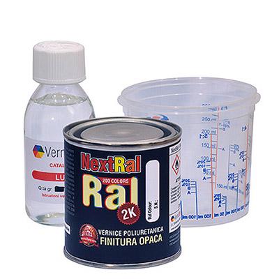 NextRal Vernice Poliuretanica Bicomponente in colori RAL Opachi in barattolo da 250 gr