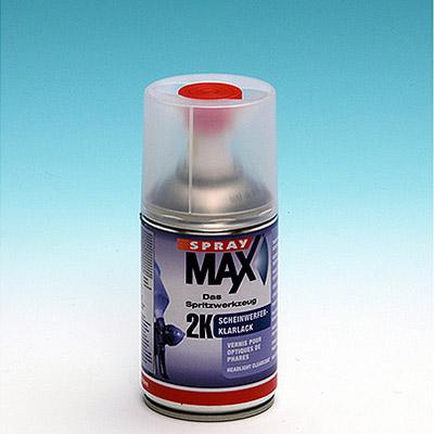 Barniz bicomponente brillante en aerosol especial para pequeño retoque de auto   Transparente Brillante