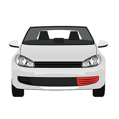 Front Bumper Grille - Left side - Primed