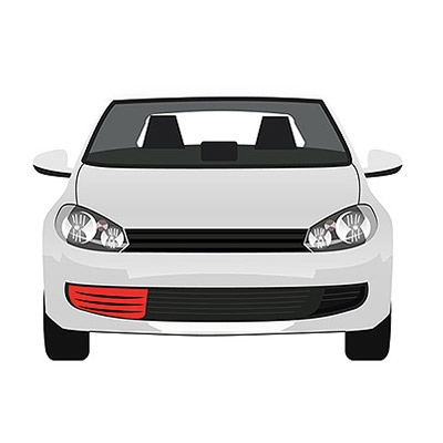 Front Bumper Grille - Right side - Black
