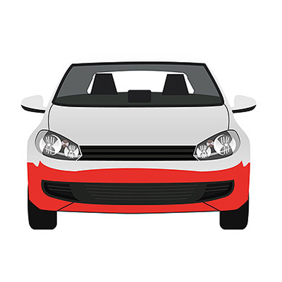Front Bumper with Chrome Molding