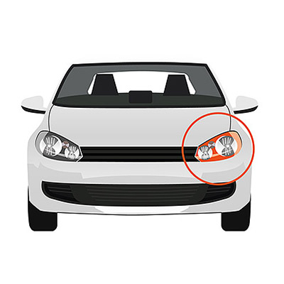 Front Headlight - H7+H1 - Electric, Left side - 5 Doors
