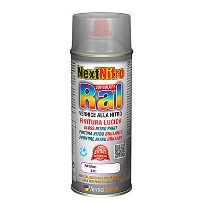 Nitro Spray Paint in all the Gloss RAL colours   Ral 9006  white aluminium