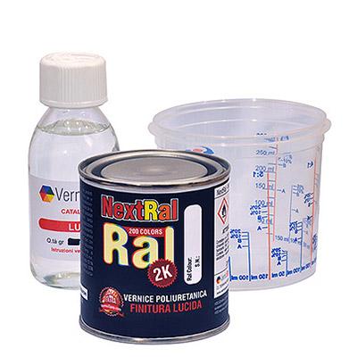 NextRal Pintura 2k de poliuretano RAL brillantes en lata de 250 gr