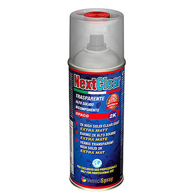 Professional Matt Clear Coat 2k - High Solid Lacquer in spray for bumpers, rims, motos   Clear Extra Matt
