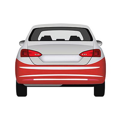 Parachoques Trasero Imprimado - con Tapa Gancho y con marco Sensores de aparcamiento