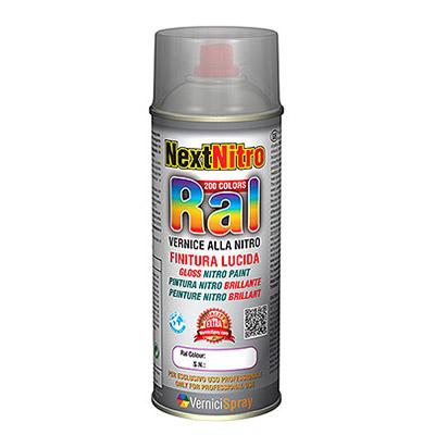 NextNitro - Peinture Nitro brillant direct en bombe aérosol dans les teintes RAL