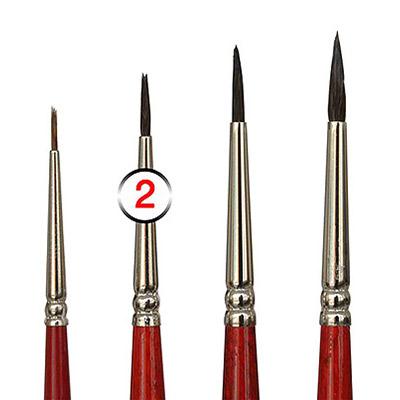 Pinceles de Retoque pintura Coche en diferentes tamaños   Pincel de Retoque tamaño 2