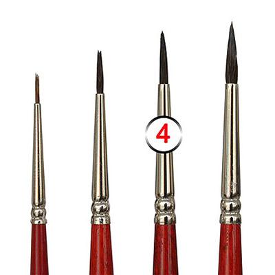 Pinceles de Retoque pintura Coche en diferentes tamaños   Pincel de Retoque tamaño 4