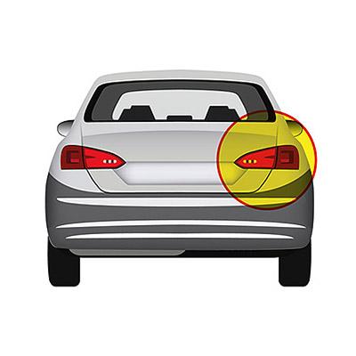 Rear Bumper Reflector - Right side