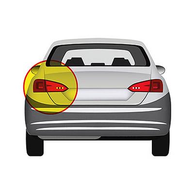 Rear Light without Bulb Holder - Left side, Black,Mod. 2 Doors -