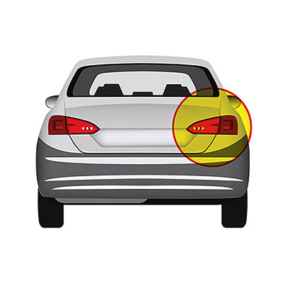Rear Light without Bulb Holder - Right side, Black,Mod. 2 Doors -