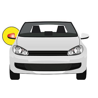 Rétroviseur droit prêt à peindre, électrique, dégivrant avec capteur de température - côté passager