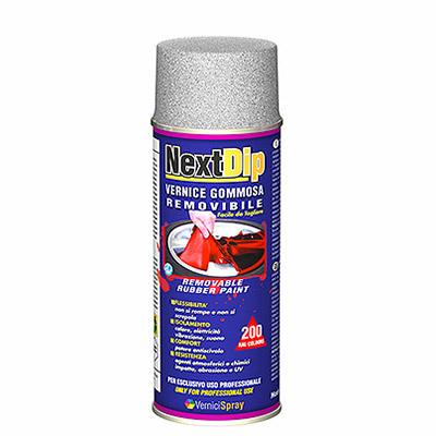 NextDip Vernis Gommeux amovible spray métallisé
