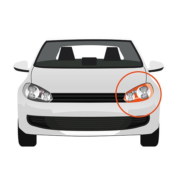 Front Indicator without Bulb Holder - Left side, Orange -