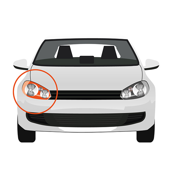 Indicator Lateral Installation without Bulb Holder - Right/Left side, White -