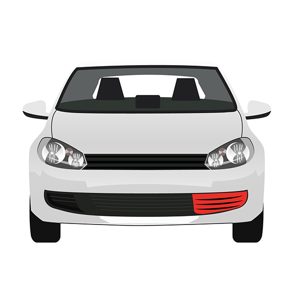 Front Bumper Grille - Left side
