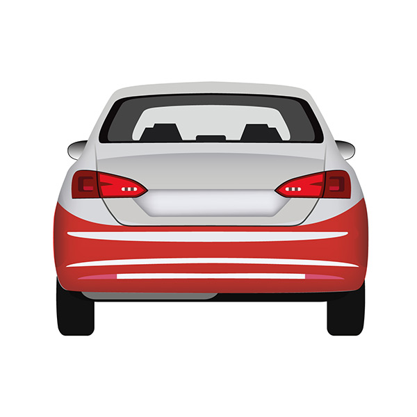 Rear Bumper - Black embossed with Tow Hook cover and pdc Holes