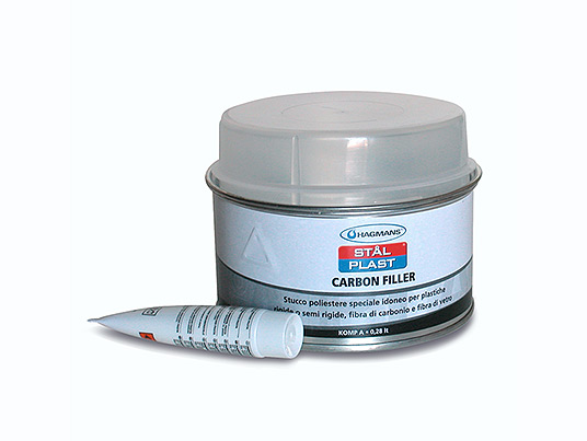 Carbon Filler - Carbon/polyester two-component Filler