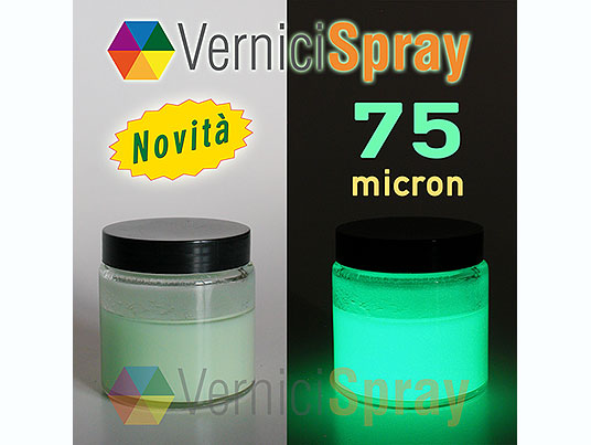 Vernice Fosforescente con Pigmento 75 micron - 100 ml