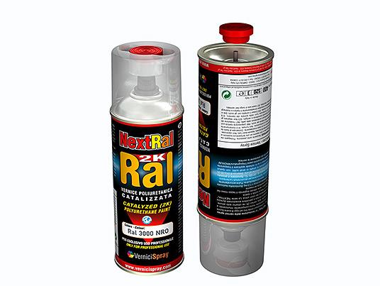 2k Paint polyurethane based in spray can - RAL matt finish