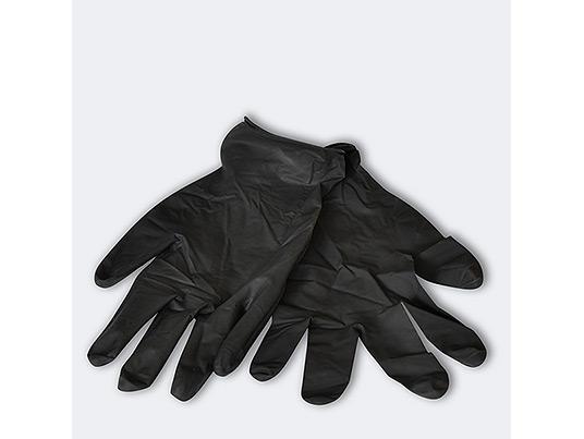 Disposable black latex gloves