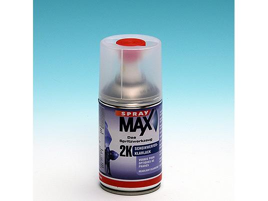 Barniz bicomponente brillante en aerosol especial para pequeño retoque de auto