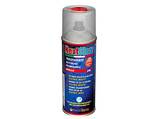 Professional Matt Clear Coat 2k - High Solid Lacquer in spray for bumpers, rims, motos