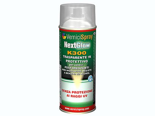 NextGlow k300 Trasparente protettivo Spray per Vernice Fosforescente e Fluorescente