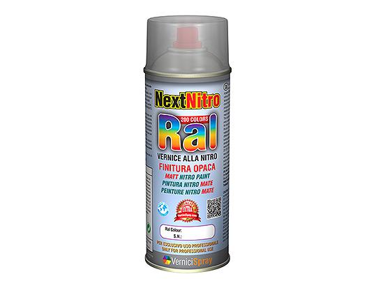 Pintura Nitro Mate en todos los colores RAL en aerosol